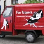 Fun Tappers e. V. rollende Werbetafel