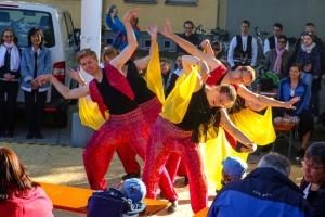 April 2018: Auftritt beim Tanz vor dem Maibaum, Waghäusel